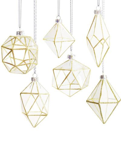 Faceted Glass Ornament High Street Market WINTER Pinterest