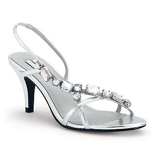 The Dyeables Cheryl is a mid heel, evening sandal. There are large gems  carefully placed along the front strap. The ankle strap wraps around the  back and ...