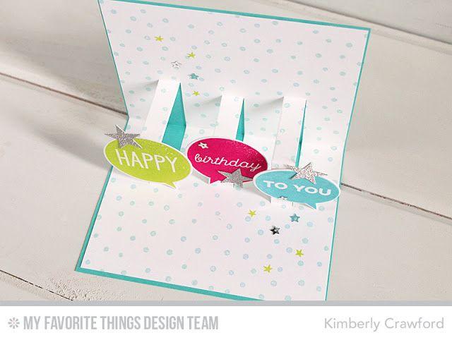 Happy Birthday Speech Bubbles And Pop Up Card Happy Birthday