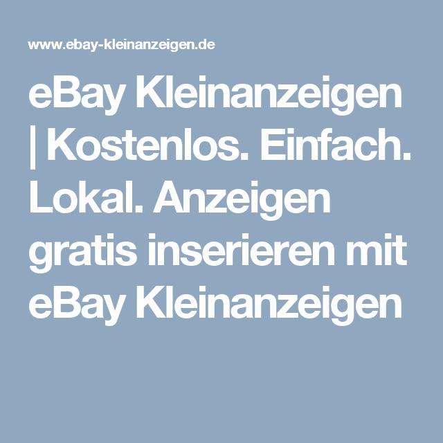 Ebay Kleinanzeigen Kostenlos Einstellen