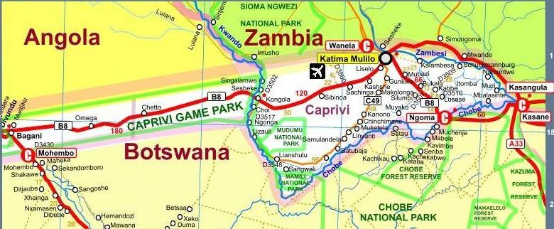 Image result for map caprivi