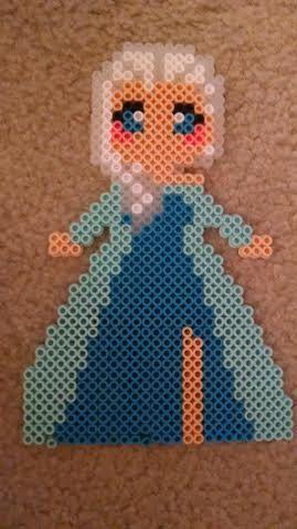 Queen Elsa Frozen Perler Beads By Alchemicartist13 Hama