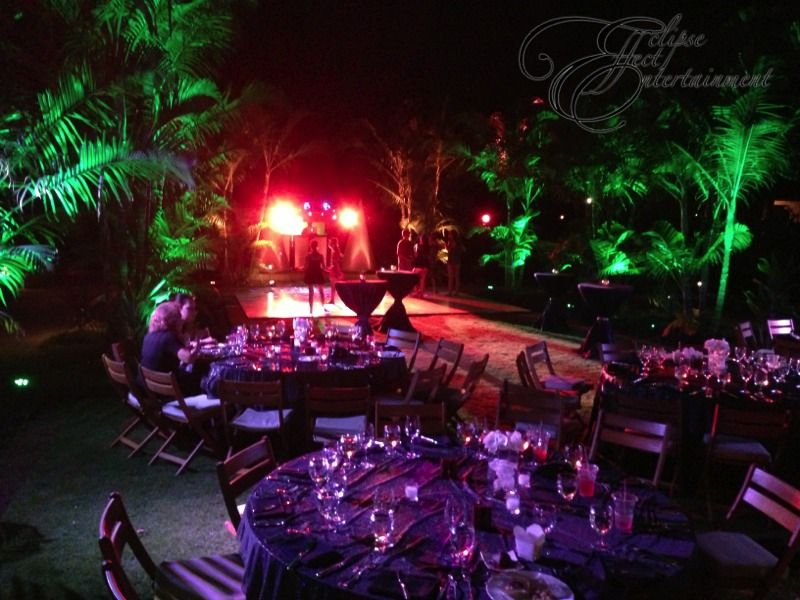 Jungle themed party at Hualalai. We used green lighting to enhance the plants put & Jungle themed party at Hualalai. We used green lighting to enhance ... azcodes.com