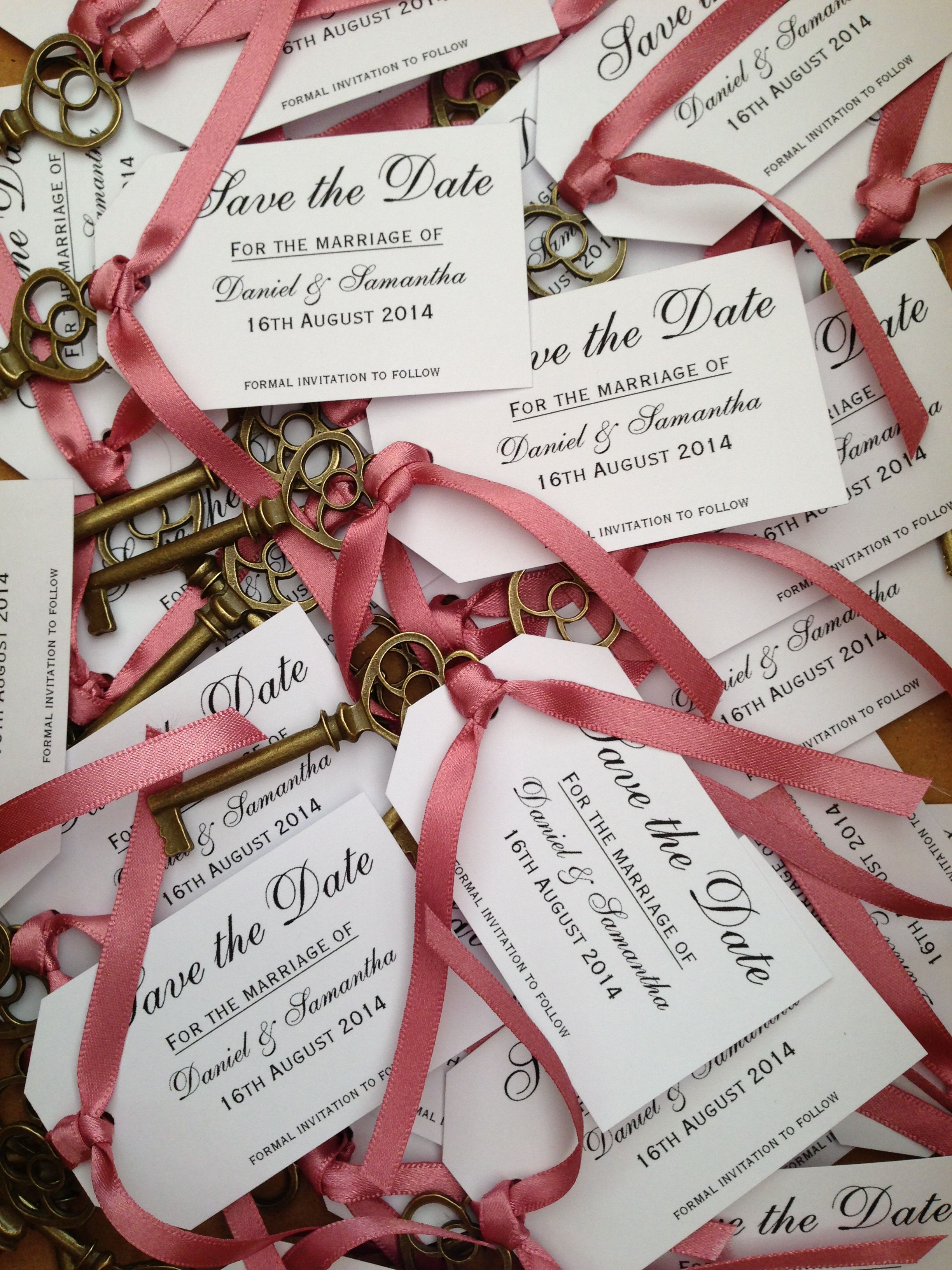 Vintage save the date key tags | save tbe date | Pinterest | Key ...