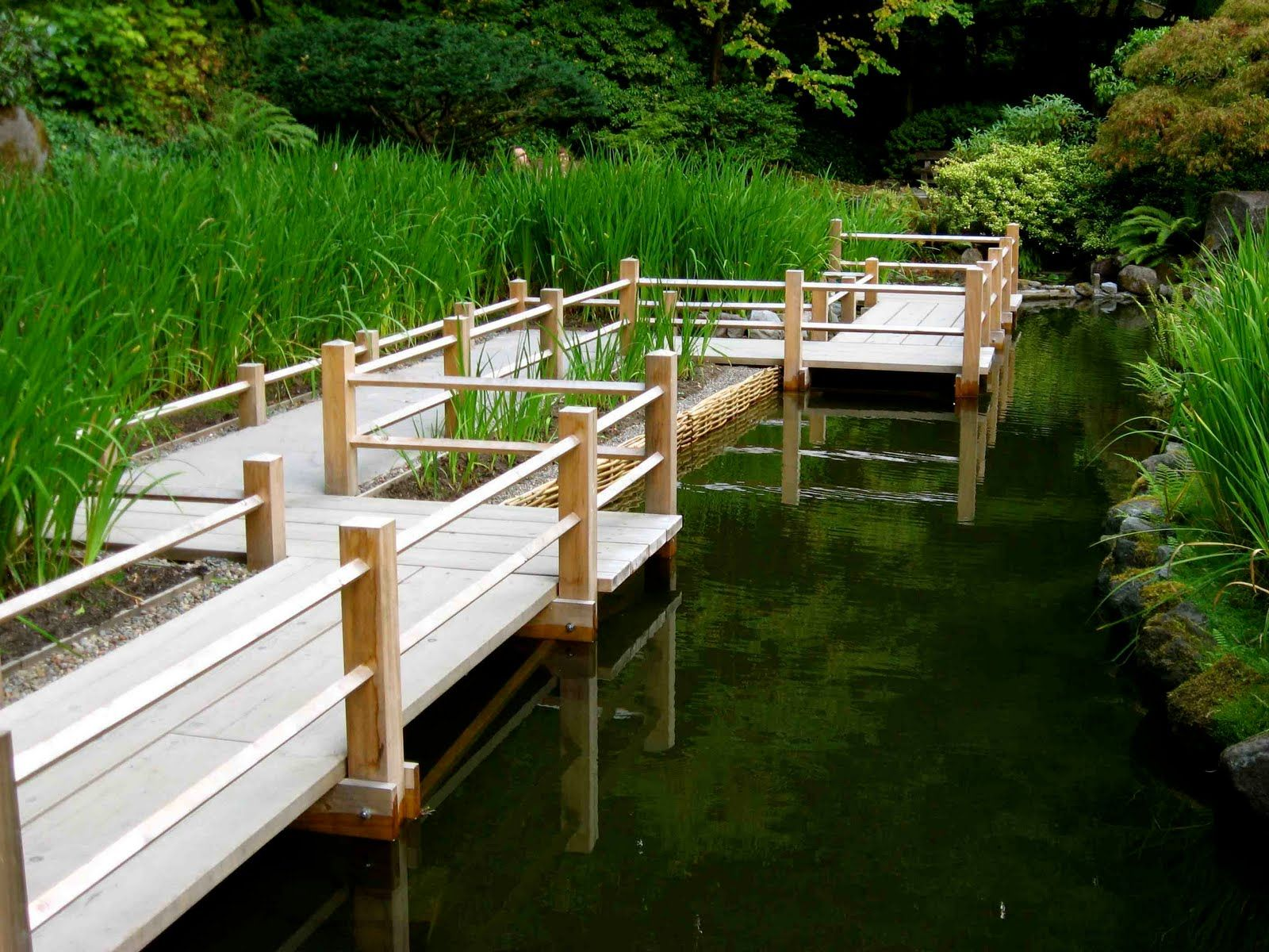 Garden designs with bridges and wishing wells landscaping ideas - Around Stream Japanese Garden Pdx