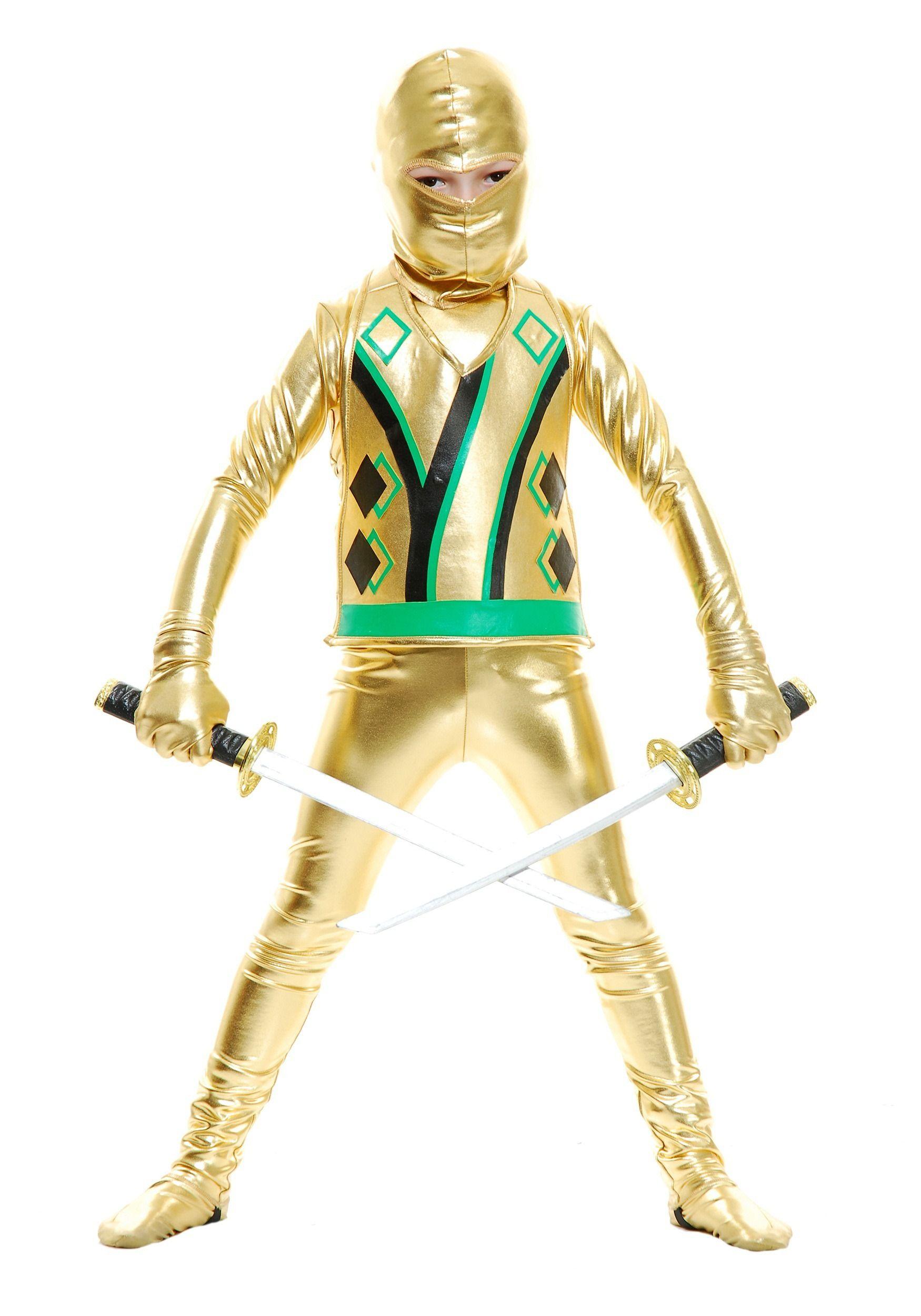 Child Gold Ninja Avengers Series Iii Kostume Pinterest