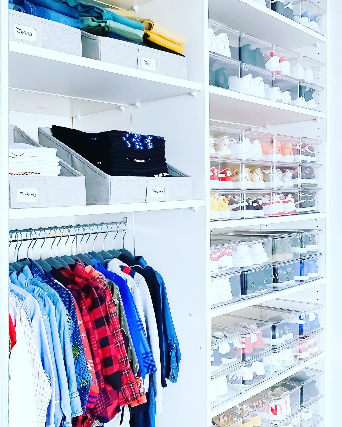 That time we revamped @angelasimmons sons closet 💥💥 Have you purged your kids closet in preparation for spring cleaning? We can help you!! We have a few April dates left, don't miss out ✨✨#organized by #theprojectneat . . . #organization #homeorganization #home #closet #closetgoals #closetorganization #closetmakeover #closetorganizer #closetdesign #organizing #closetorganizing #getorganized #organizedlife #organizedmom #goals #influencer