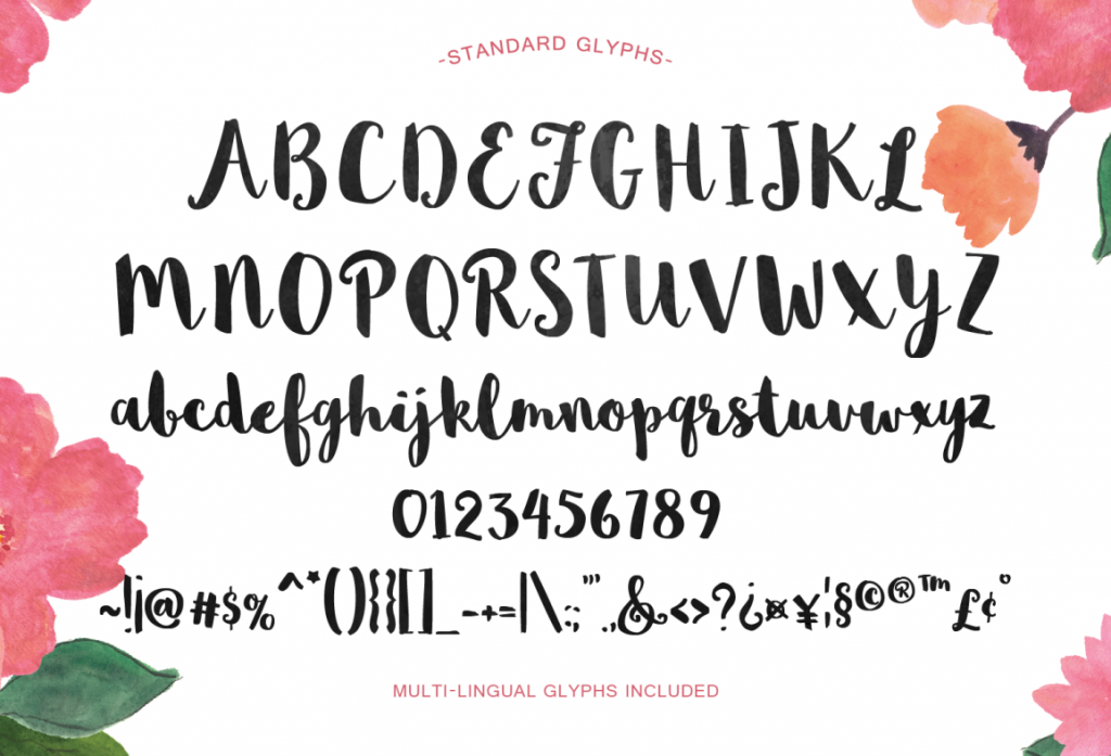 Brush Letter Fonts