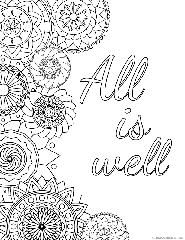 Stress Relief Coloring Pages To Help You Find Your Zen Quote Coloring Pages Stress Coloring Book Anti Stress Coloring Book