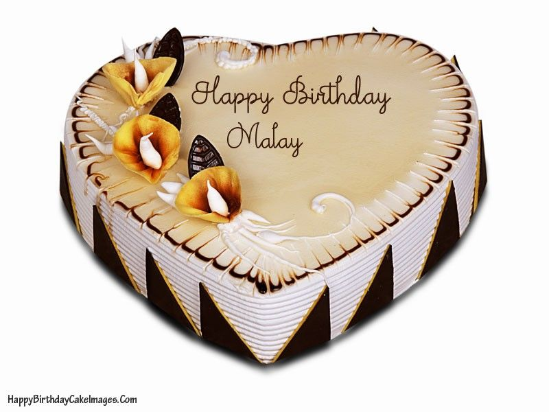 create a cute honey birthday cake with name of your loved ones on it to make