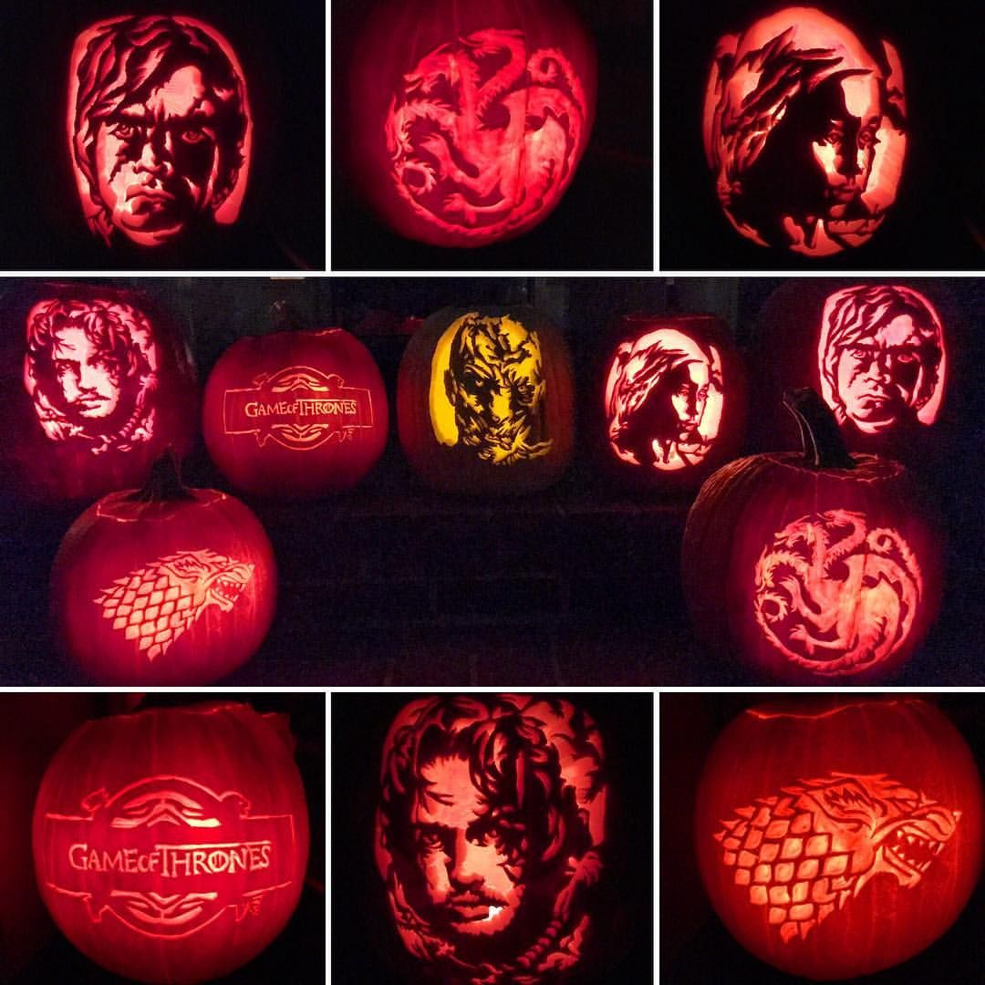 Game of Thrones Pumpkins for Halloween 2016. (With images