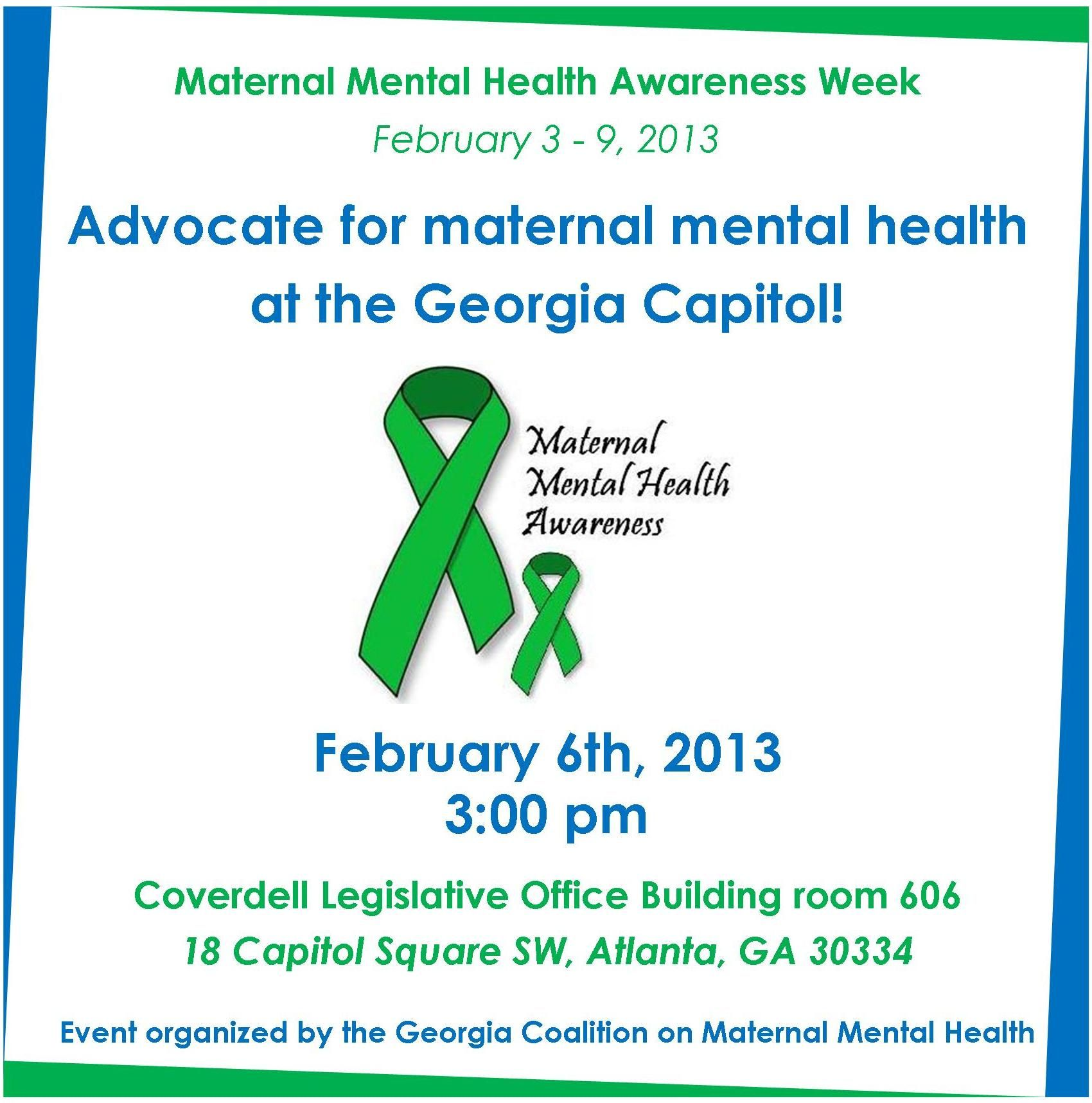 It is MATERNAL MENTAL HEALTH AWARENESS WEEK in