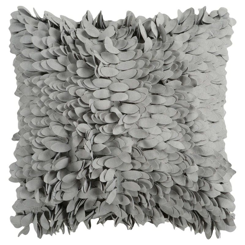 Surya Gray Petal Pillow from Pure Home