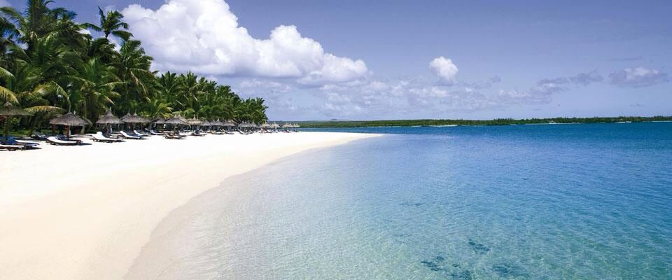 Was lucky enough to lat on this beach twice! One & Only Mauritius