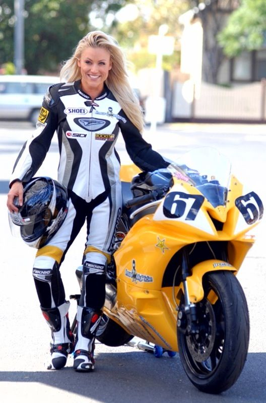 Stacy McMahon - Australian fitness model & Motorbike Racer