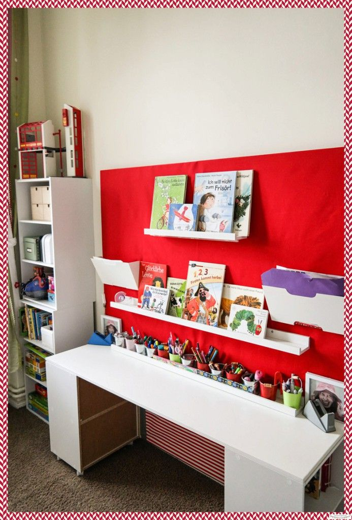 Kinderschreibtisch f r zwei fantastic desk for two by diy kinder - Kinderzimmer schulkind ...