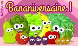 Bananiversaire A Toi Carte Anniversaire Carte Anniversaire Enfant Carte Joyeux Anniversaire
