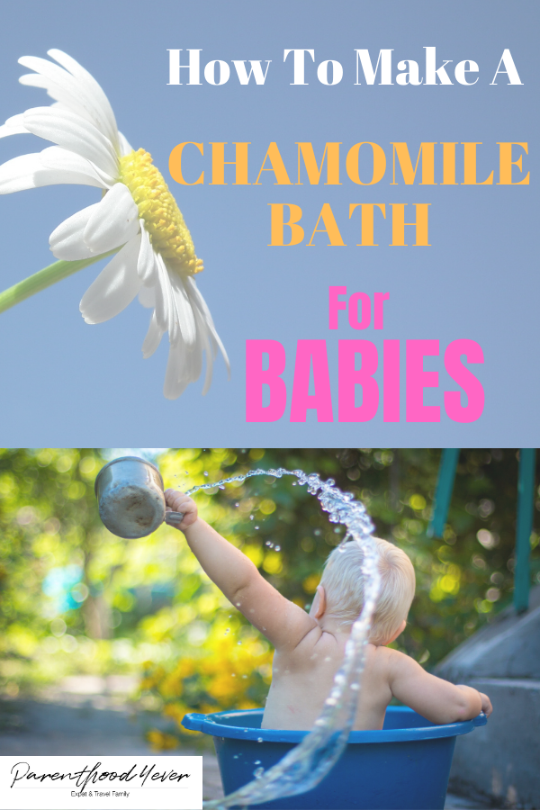 How To Make A Chamomile Bath For Babies In 2020 Newborn Bath Baby Rash Baby Bath Time