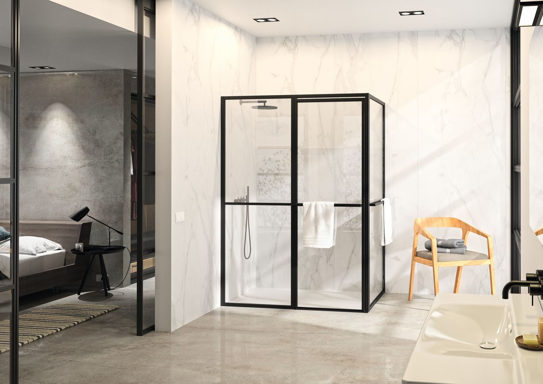 Black White Look Fur Ihr Bad Duschkabine Wandverkleidung Dusche