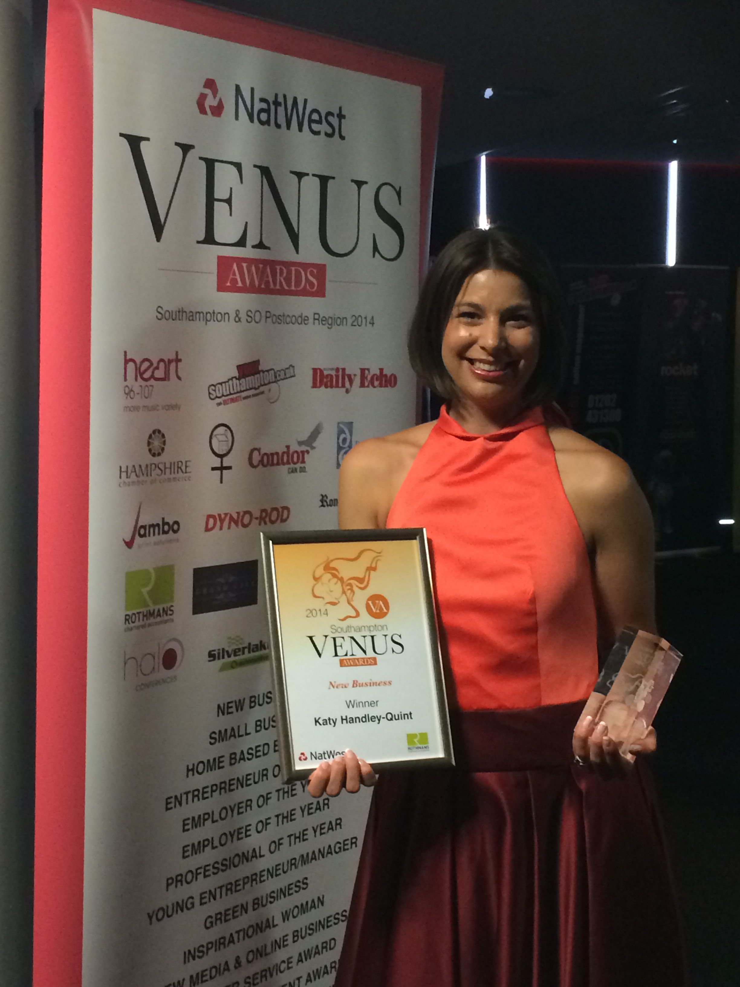 Venus Awards Rothmans LLP New Business of the Year PINKS Children's Boutique  www.thepinkpartyboxcompany.co.uk SO198HH