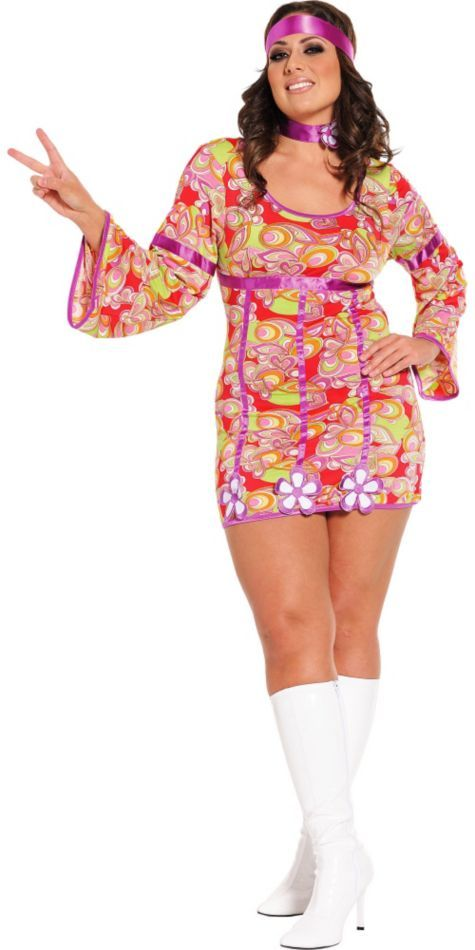 Sexy Free Love Plus Size Hippie Costume - Party City Costume Ideas