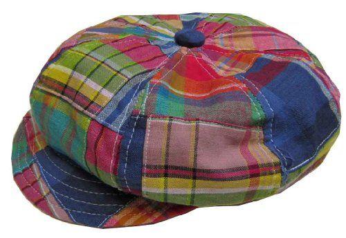 c8be62b6c New York Hat and Cap Patchwork Madras Spitfire Apple Cap $36.00 ...