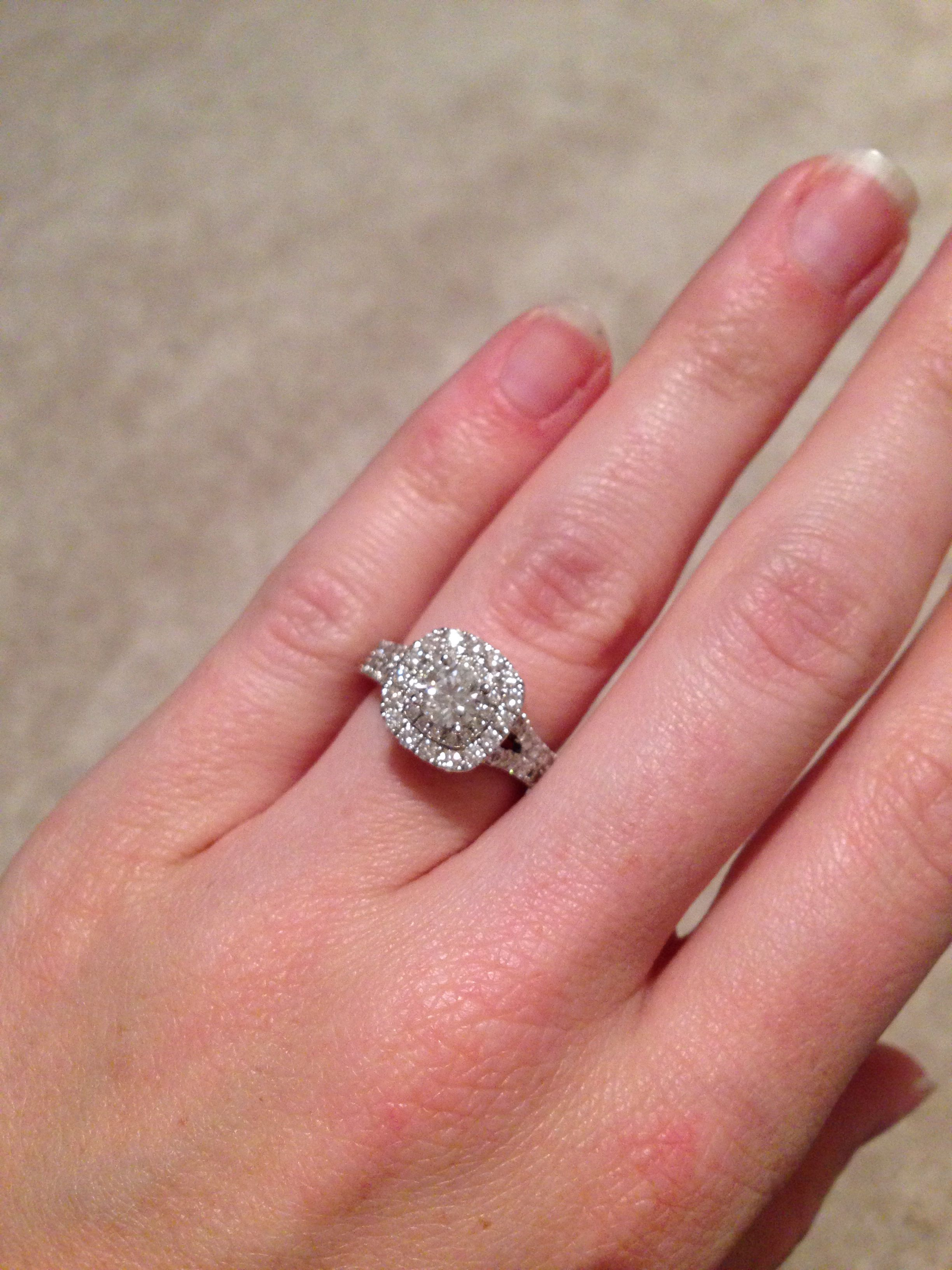 My beautiful engagement ring! Vera wang\'s \'Love\' collection ...