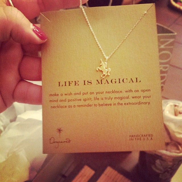 Life Is Magical Necklace, Gold Dipped
