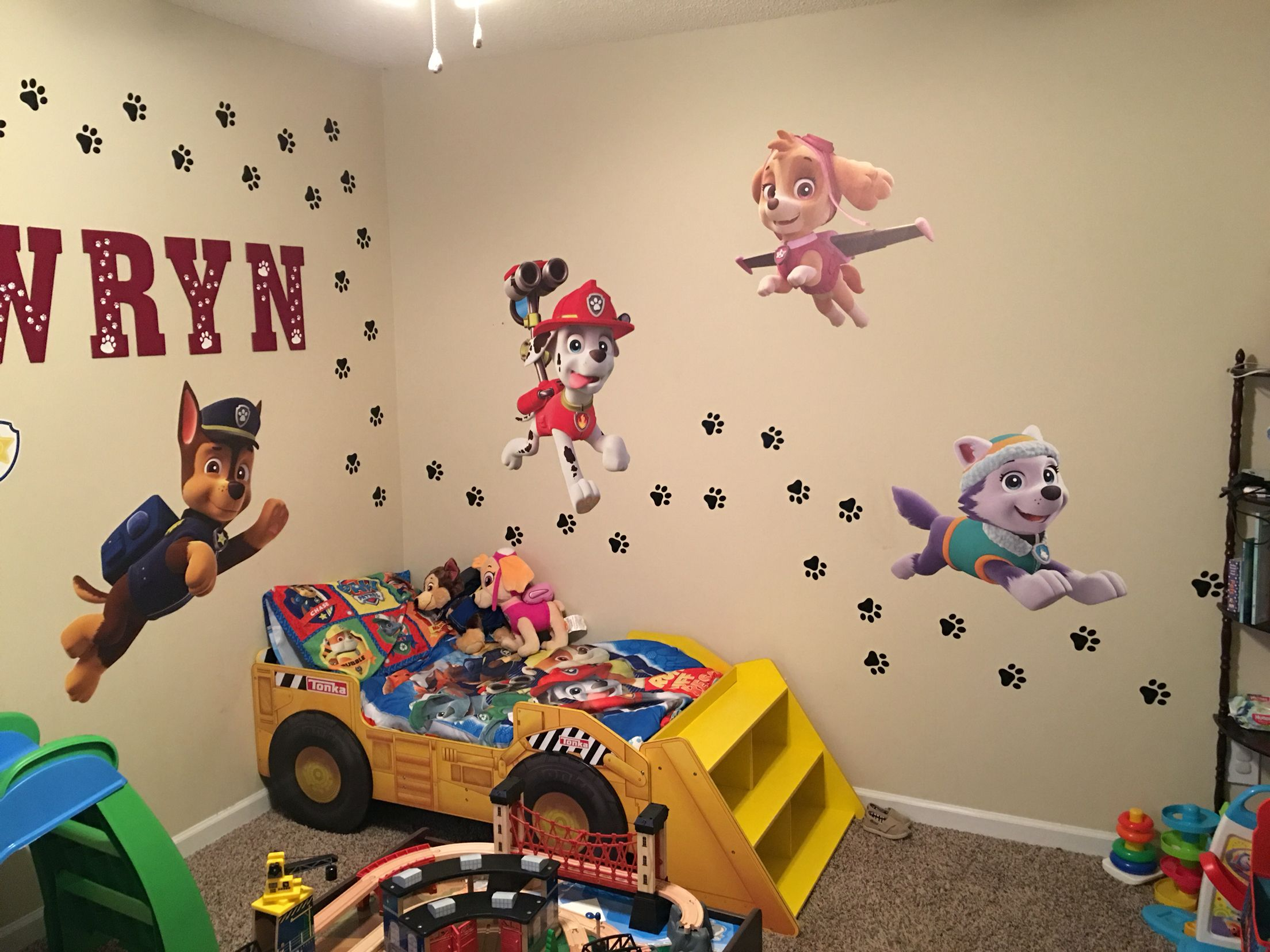 My sons paw patrol bedroom | Bday #3 Paw Patrol ...