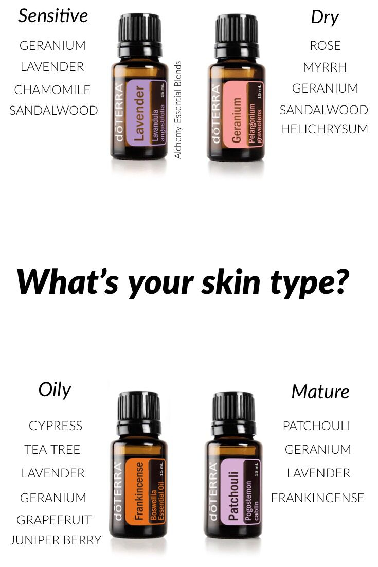 Essential oils for every skin type