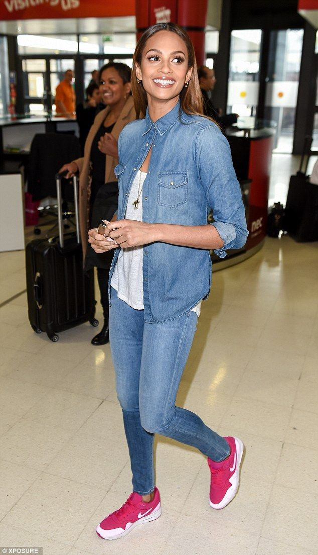 Alesha Dixon shows her love for double denim at Crufts