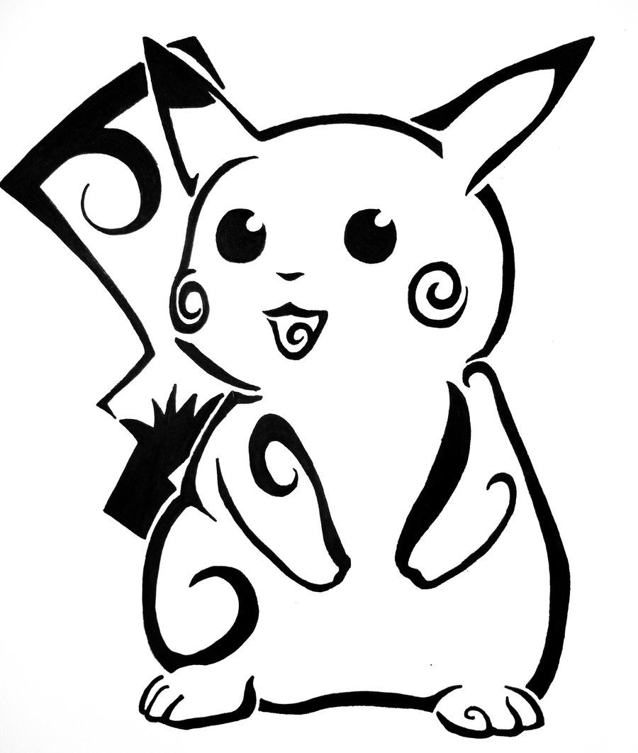 Tattoo Drawing Easy: Idk Why, But I Love Tribal Pokemon. =]