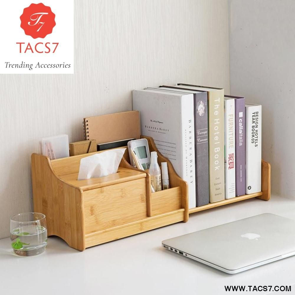 Nanzhuang Desktop Storage Box Retractable Book Shelf Desk