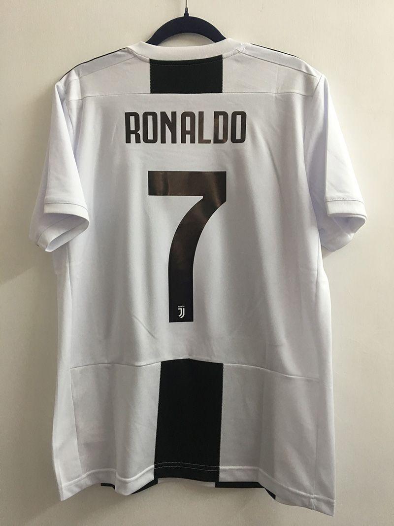 half off 5cb0d ebbf3 1819 Juventus Home Soccer Jersey Flock RONALDO #7 | 1819 ...