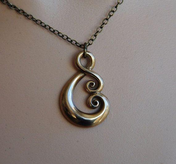 Maori Koru Love Symbol In Solid Bronzehand Crafted In Nz Etsy Love Symbols Polymer Inspiration Maori