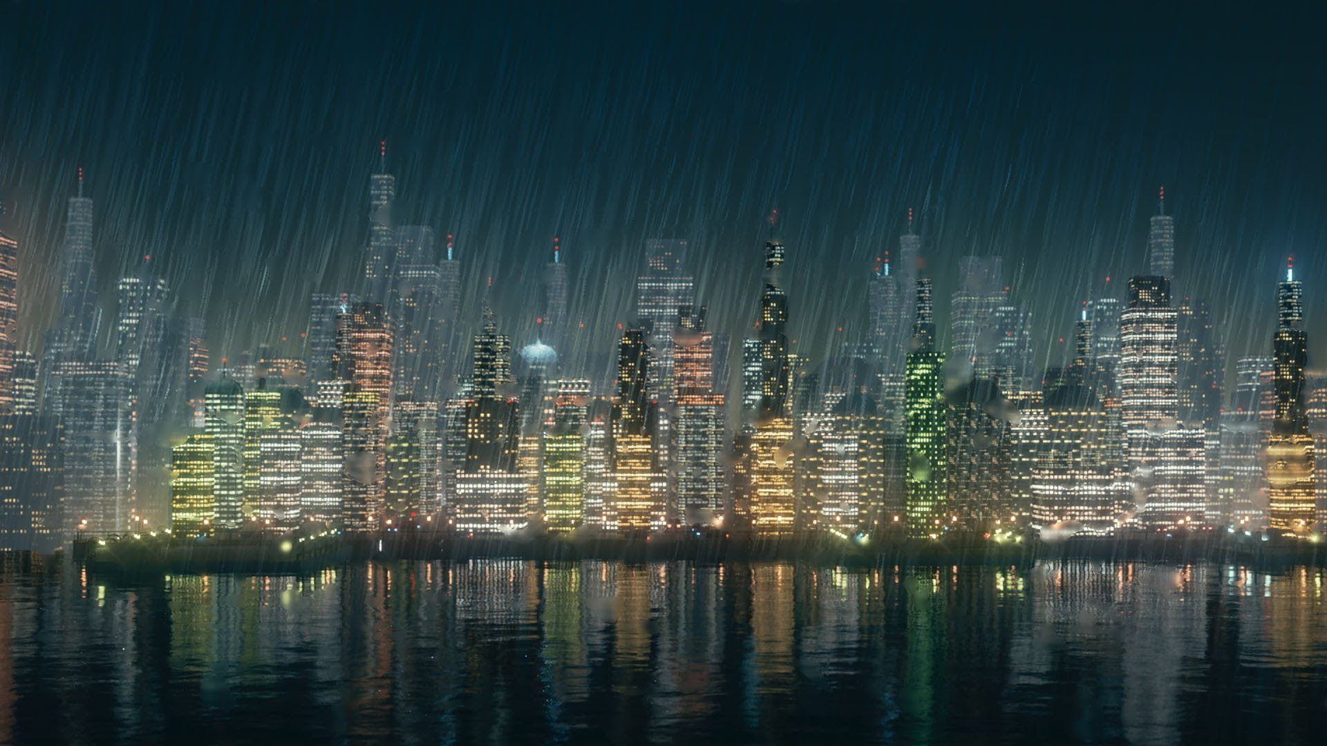 Create a beautiful city landscape at night with this new Blender