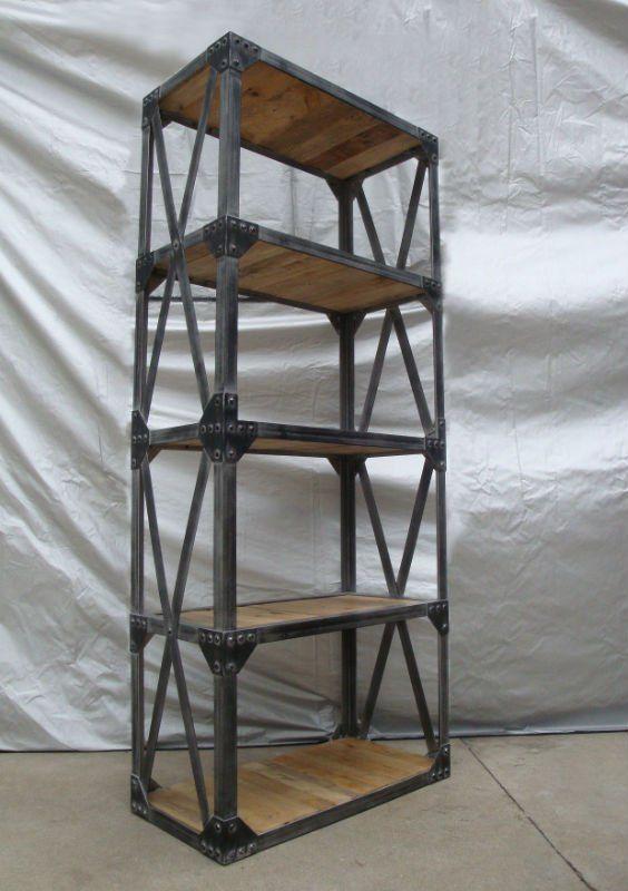 Solid Wood Vintage Industrial Bookcase - Buy Bookcase,Bookcase,Vintage  Bookshelf Product on Alibaba