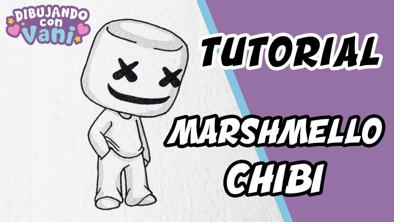 Como Dibujar A Marshmello Paso A Paso En Estilo Chibi Dibujos Kawaii F Dibujos Kawaii Dibujos Faciles Dibujos De Marshmello