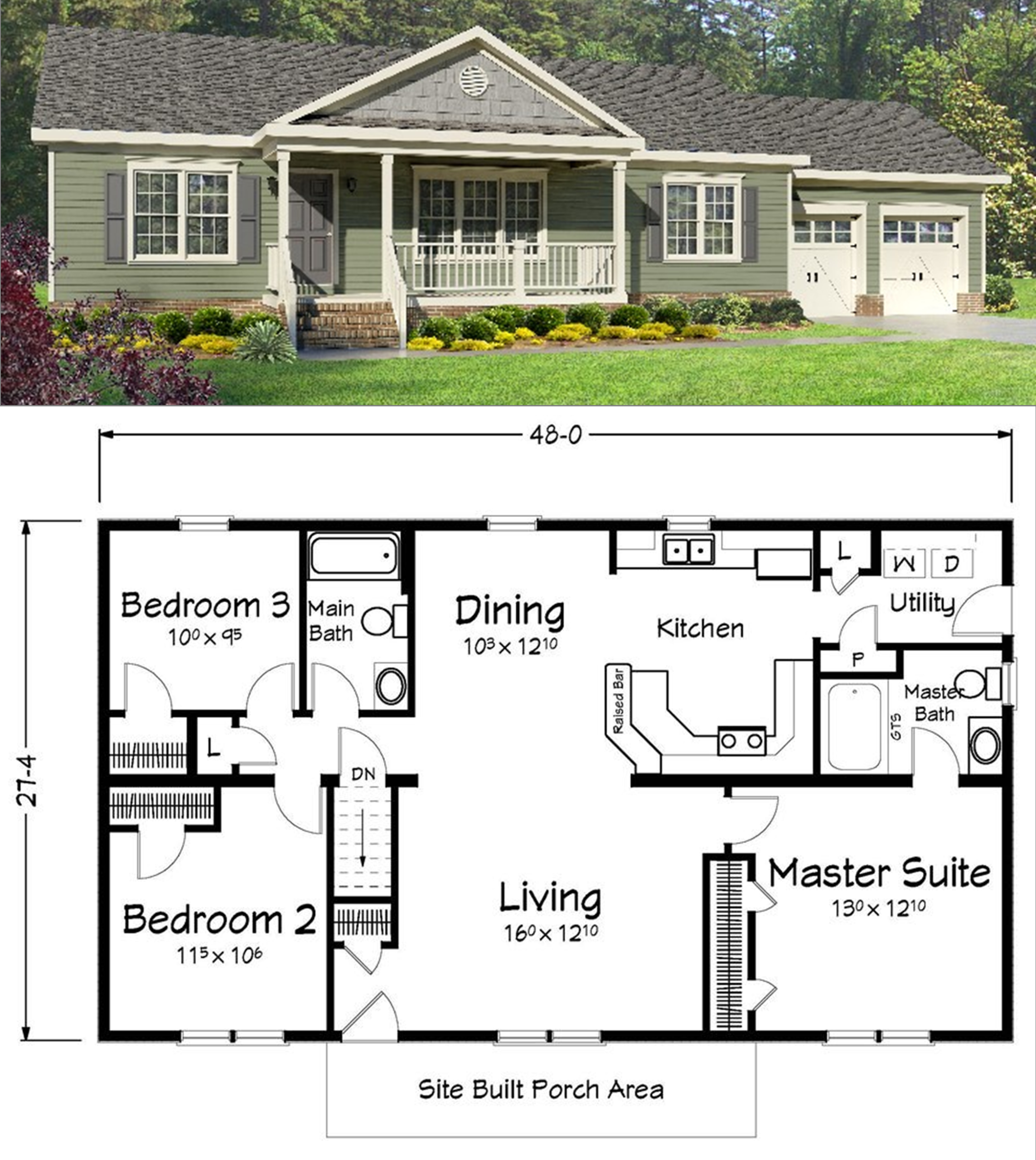 Simple Ranch Style House Plans With Basement in 2020