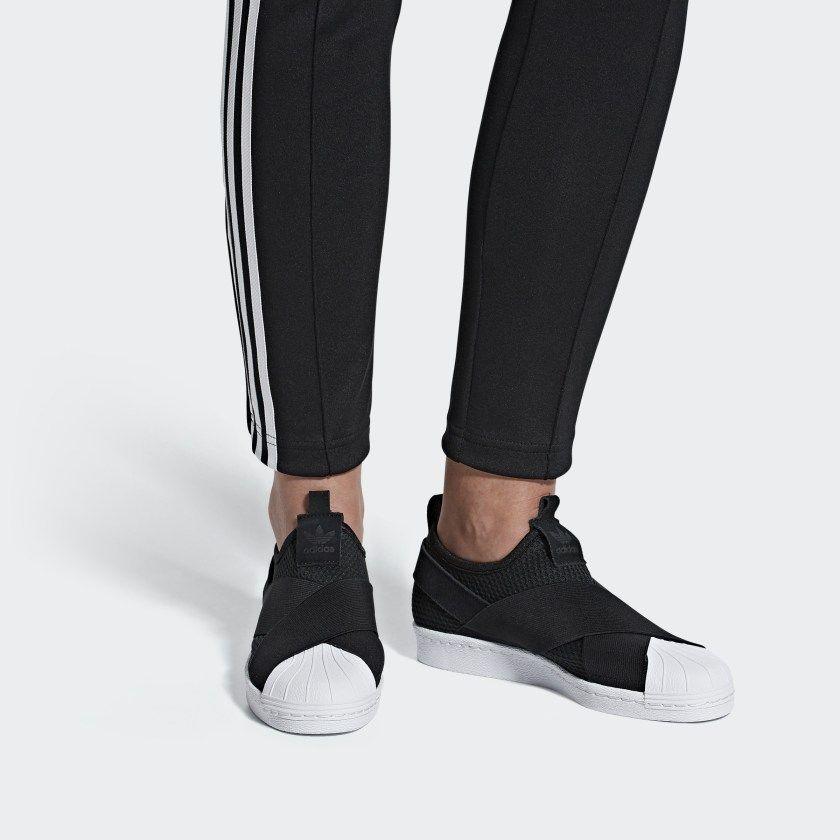 de5cee776 Superstar Slip-on Shoes Core Black   Core Black   Cloud White B37193