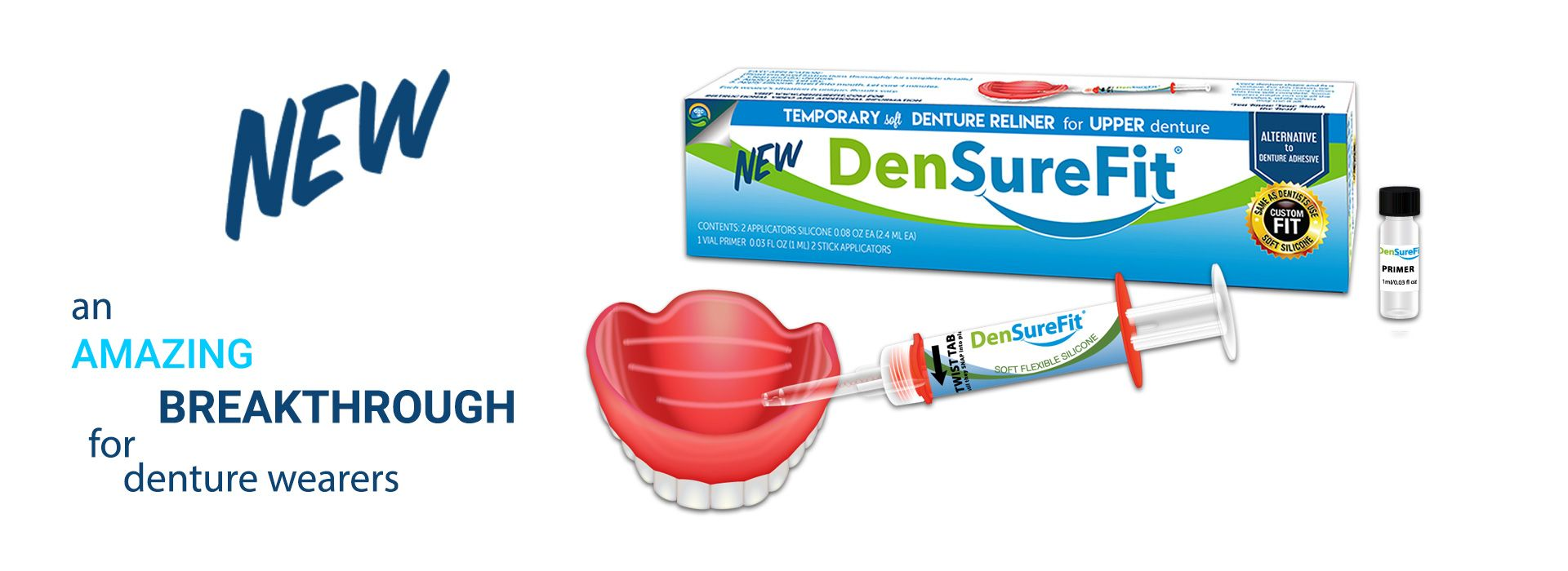 Introducing densurefit a non adhesive soft denture reliner for densurefit a denture reline kit is a self curing loose denture solutions cushion grip alternative our denture reliner kit is an alternative to denture solutioingenieria Images