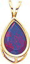 14K Gold Pear Garnet January Bezel Pendant Jewelry |C FindingKing. $64.99. Save 38% Off!