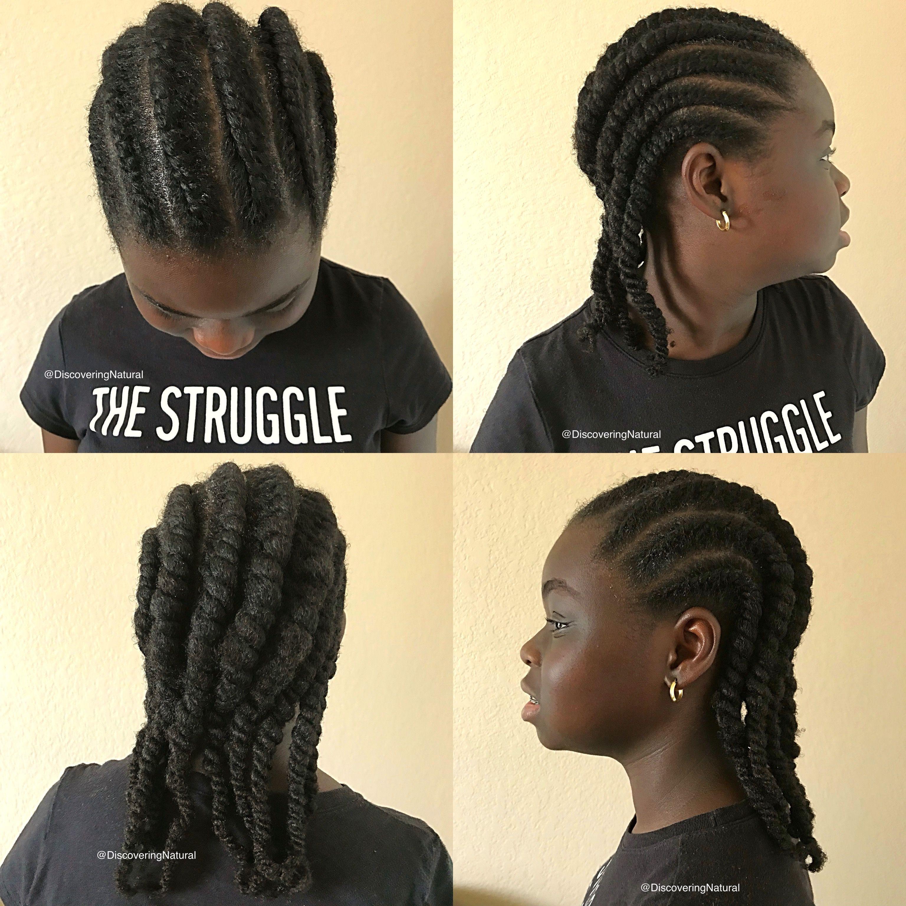 Natural hair hairstyle for kids teens tweens teenagers using flat