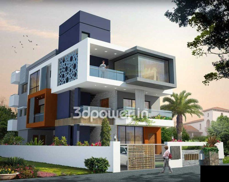bungalow design rendering bungalow home 3d rendering 3dpower bungalow design pinterest. Black Bedroom Furniture Sets. Home Design Ideas