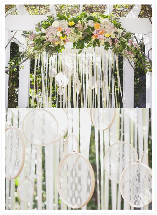 simple with impact! Simple wedding decorations.