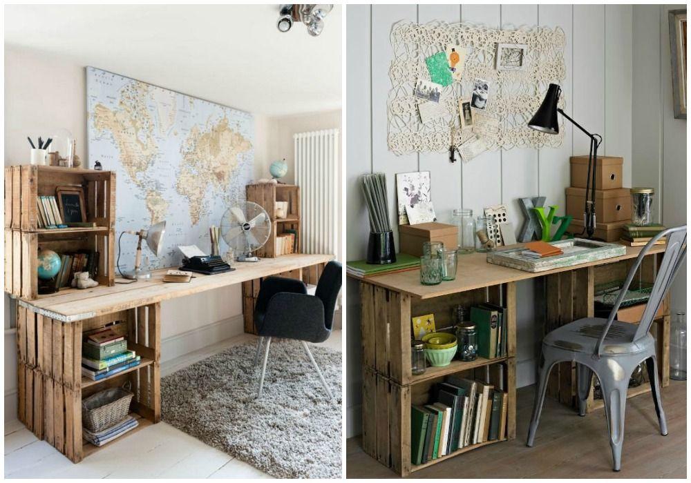 Diy escritorio escritorios taller de carpinter a y propios - Decoracion vintage reciclado ...