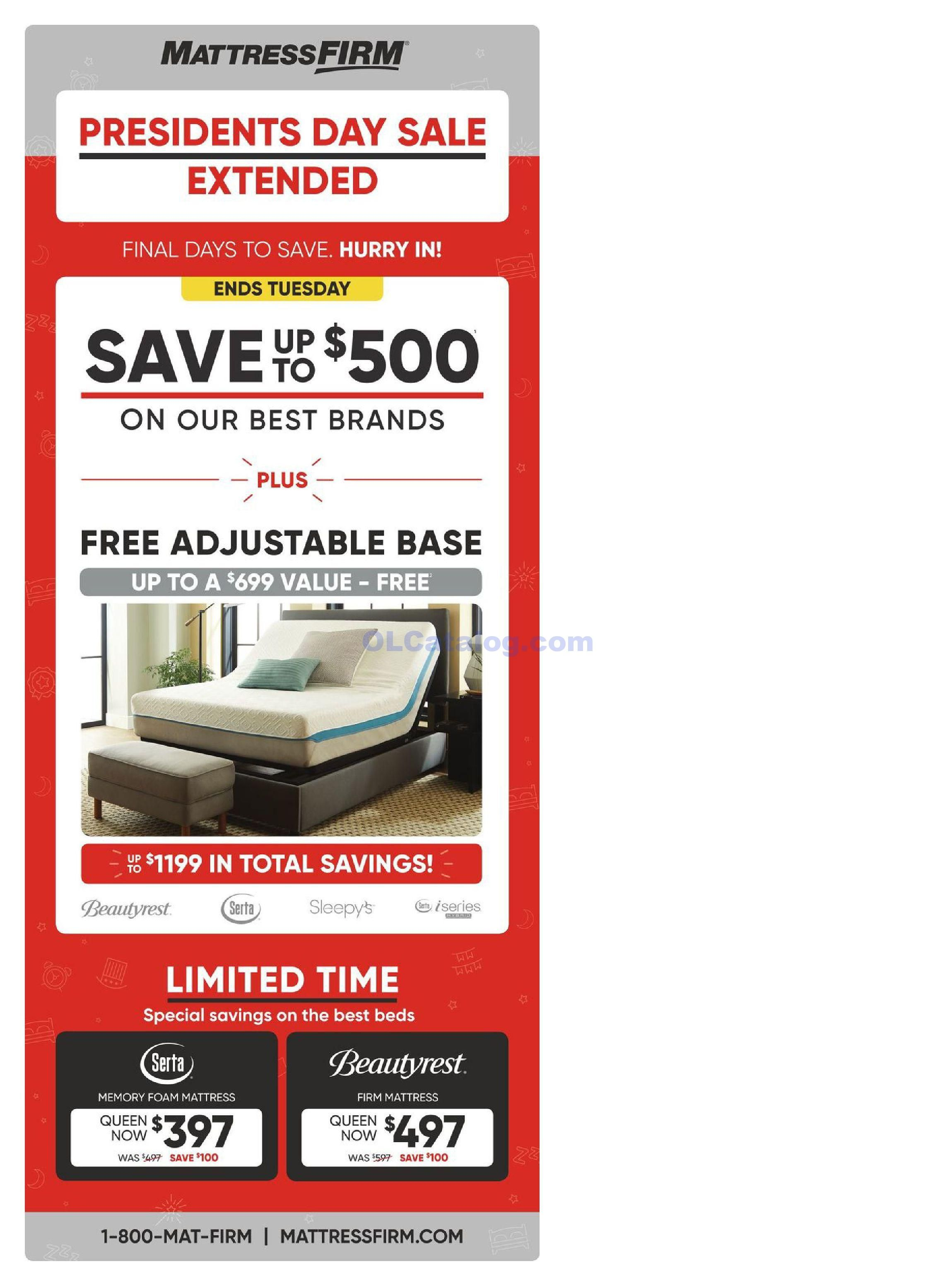 Mattress Firm Weekly Ad February 20 26 2019 Do You Know What S