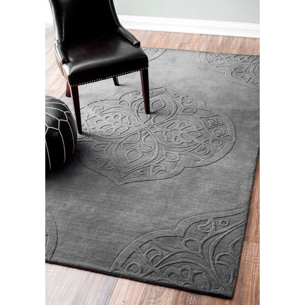 Nuloom Hand Woven Abstract Fancy Wool Ivory Grey Rug 5 X 8