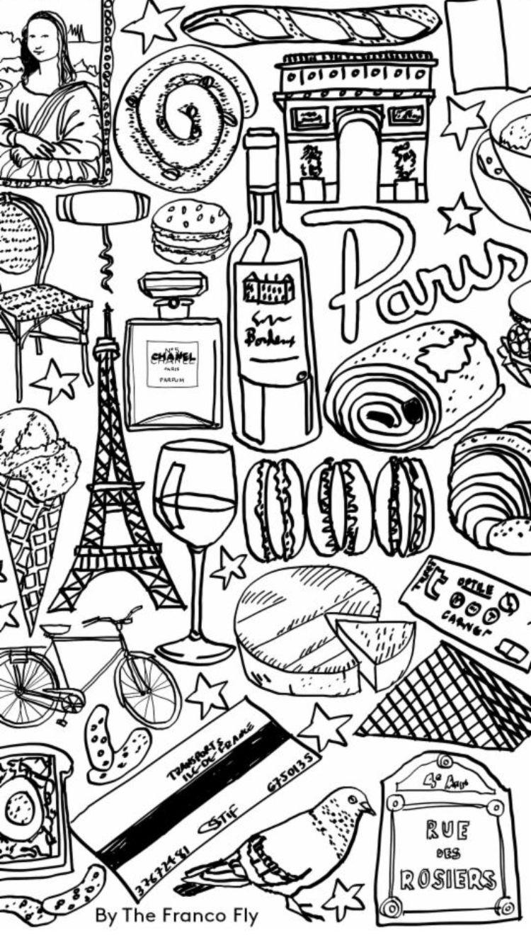 Paris Doodles Eiffeltoren Tekening Eiffeltoren Doodles