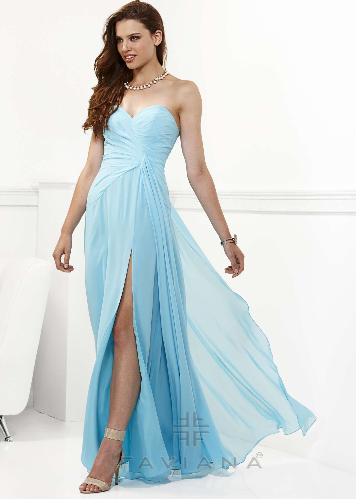 Shop 2014 prom dresses, Faviana 6428 blue strapless prom dress ...